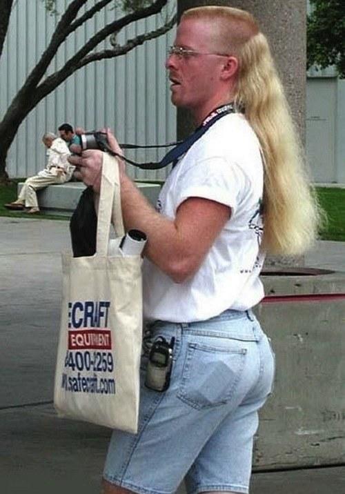 Long Blonde Mullet